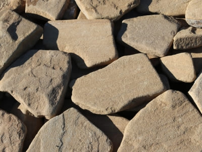 Сланец, песчаник желтый галтованный