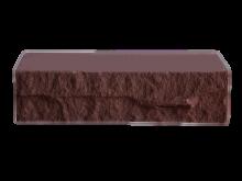 Кирпич фактурный, коричневый