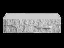 Кирпич фактурный, белый