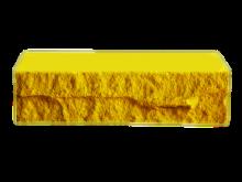 Кирпич фактурный, желтый