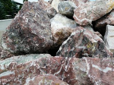 Скала мраморная розовая