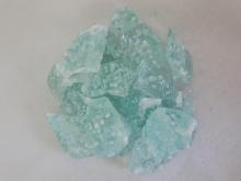 Стекло кусковое бирюса с пузырьками (Эрклез)