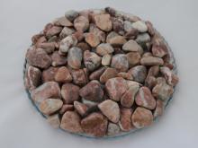 Мраморная крошка галтованная розовая 20-40 мм.