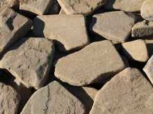 Песчаник желтый галтованный